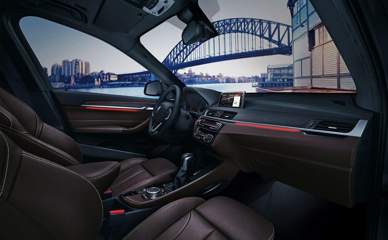 Interior of the 2018 BMW X1