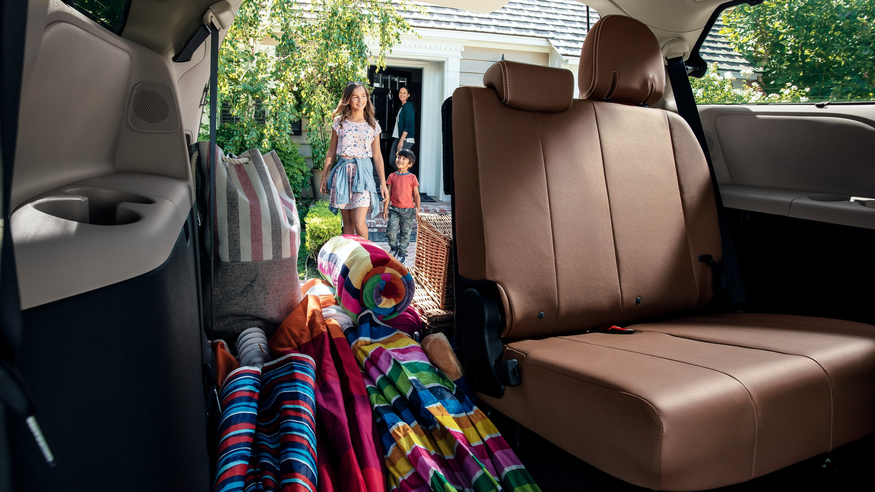 The Spacious Storage Area of the 2019 Sienna