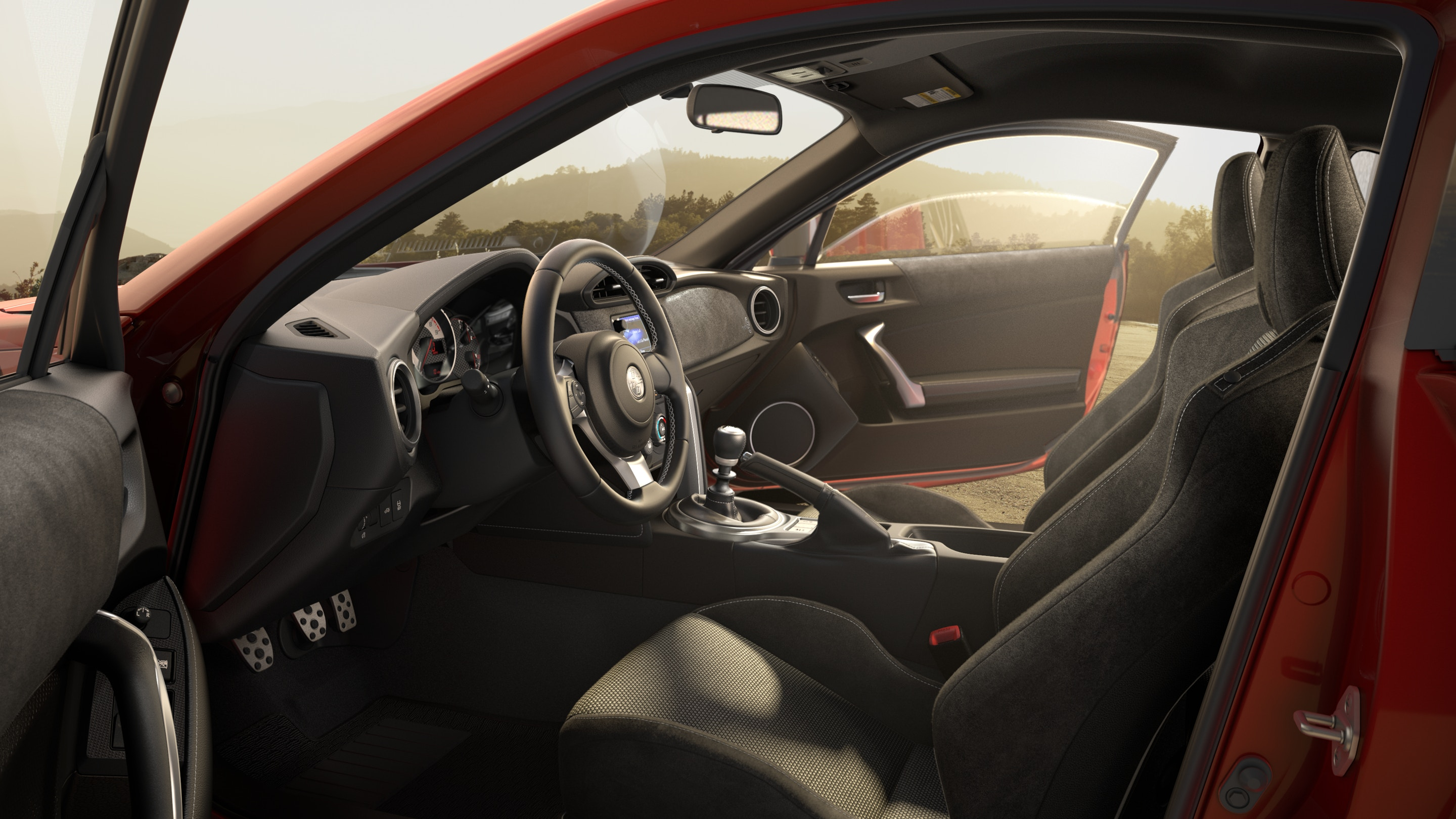 Interior of the Toyota 86