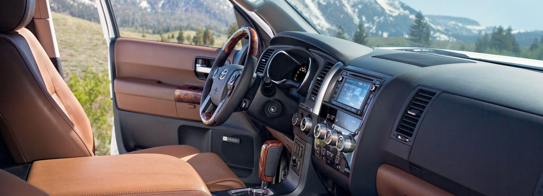 Interior of the 2019 Toyota Sequoia