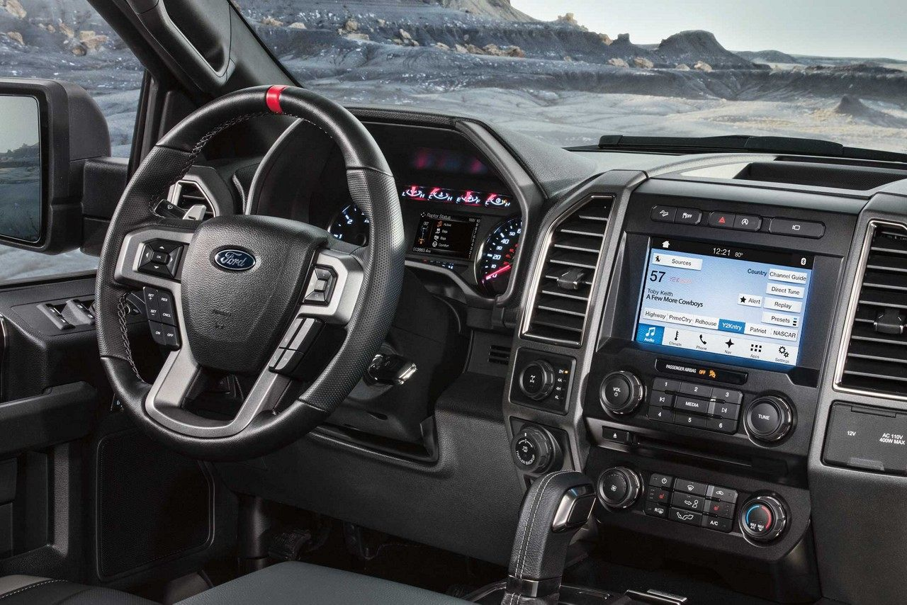 Interior of the 2018 Ford F-150