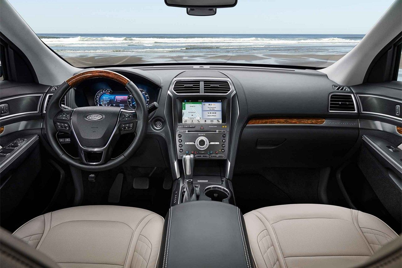 Interior of the 2018 Ford Explorer