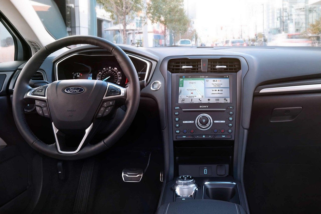 Interior of the 2018 Ford Fusion