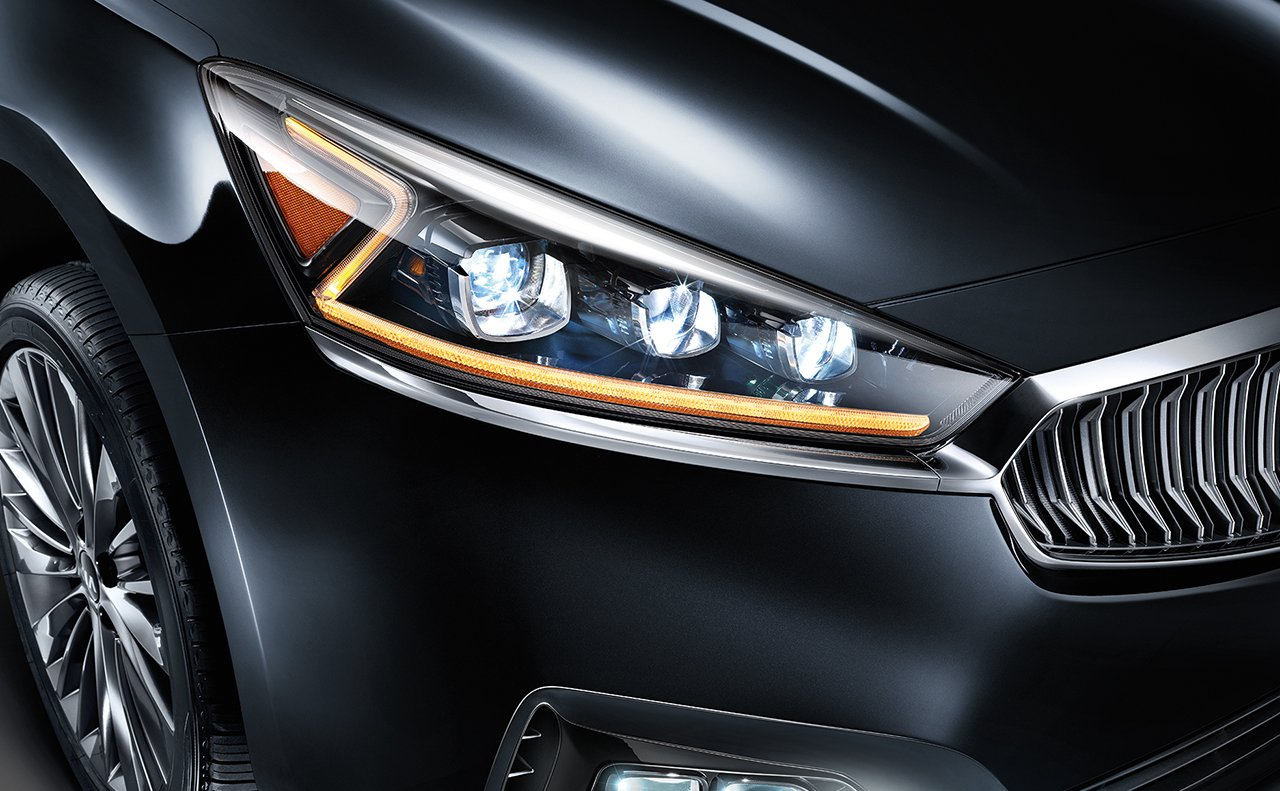 The Cadenza's Distinctive Headlight Design