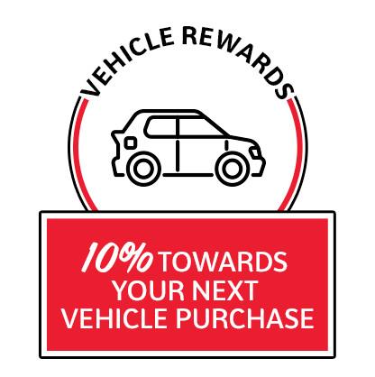 10% towards next vehicle purchase