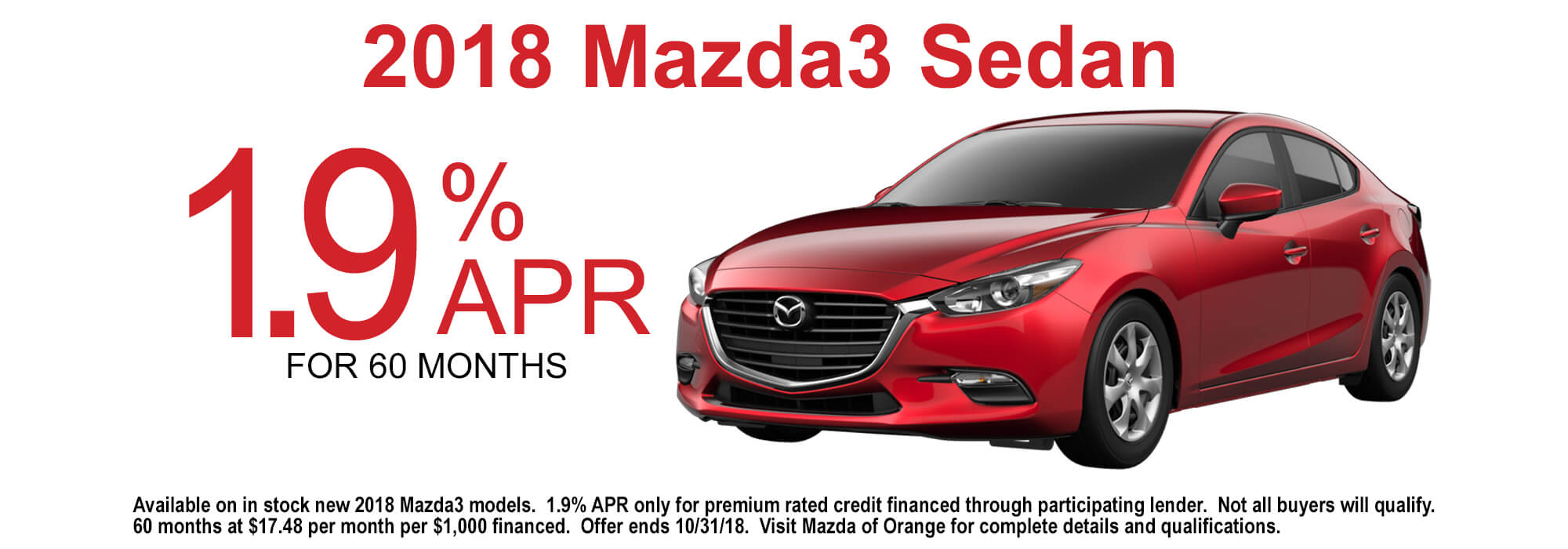 Great 2018 Mazda3 Sedan APR Special Offer Sales Event ...