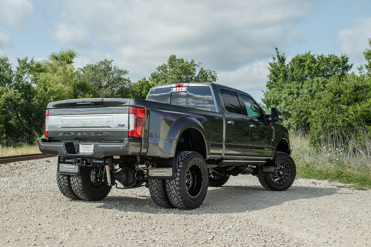 Custom Lifted Ford F 350 Dually Road Armor Identity Bumpers Fuel