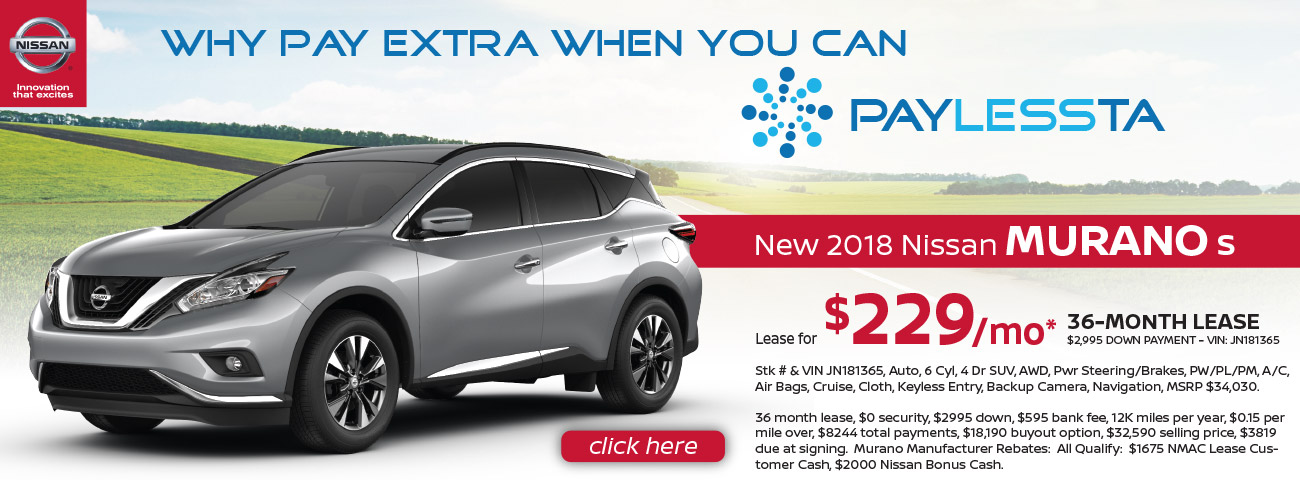 Monthly Lease Special For Nissan Murano At Windsor Nissan In East Windsor NJ