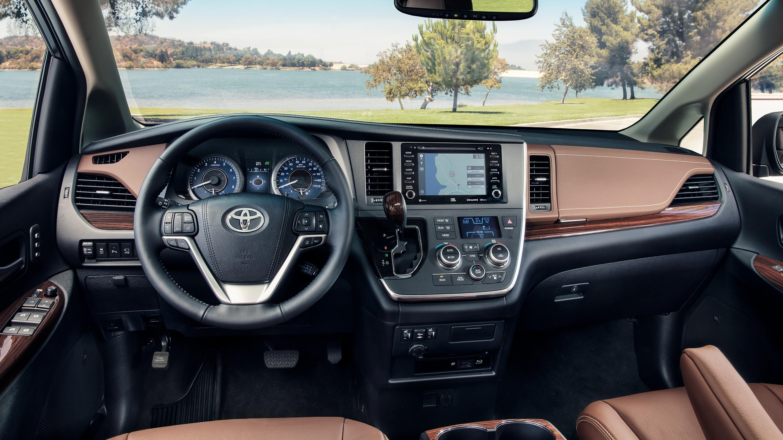 Interior of the 2019 Toyota Sienna