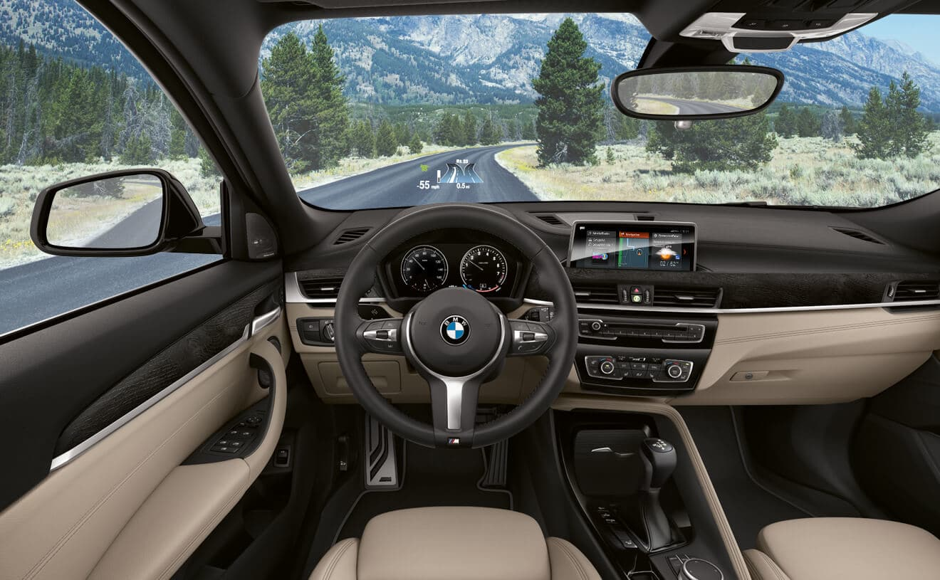 Interior of the 2018 BMW X2