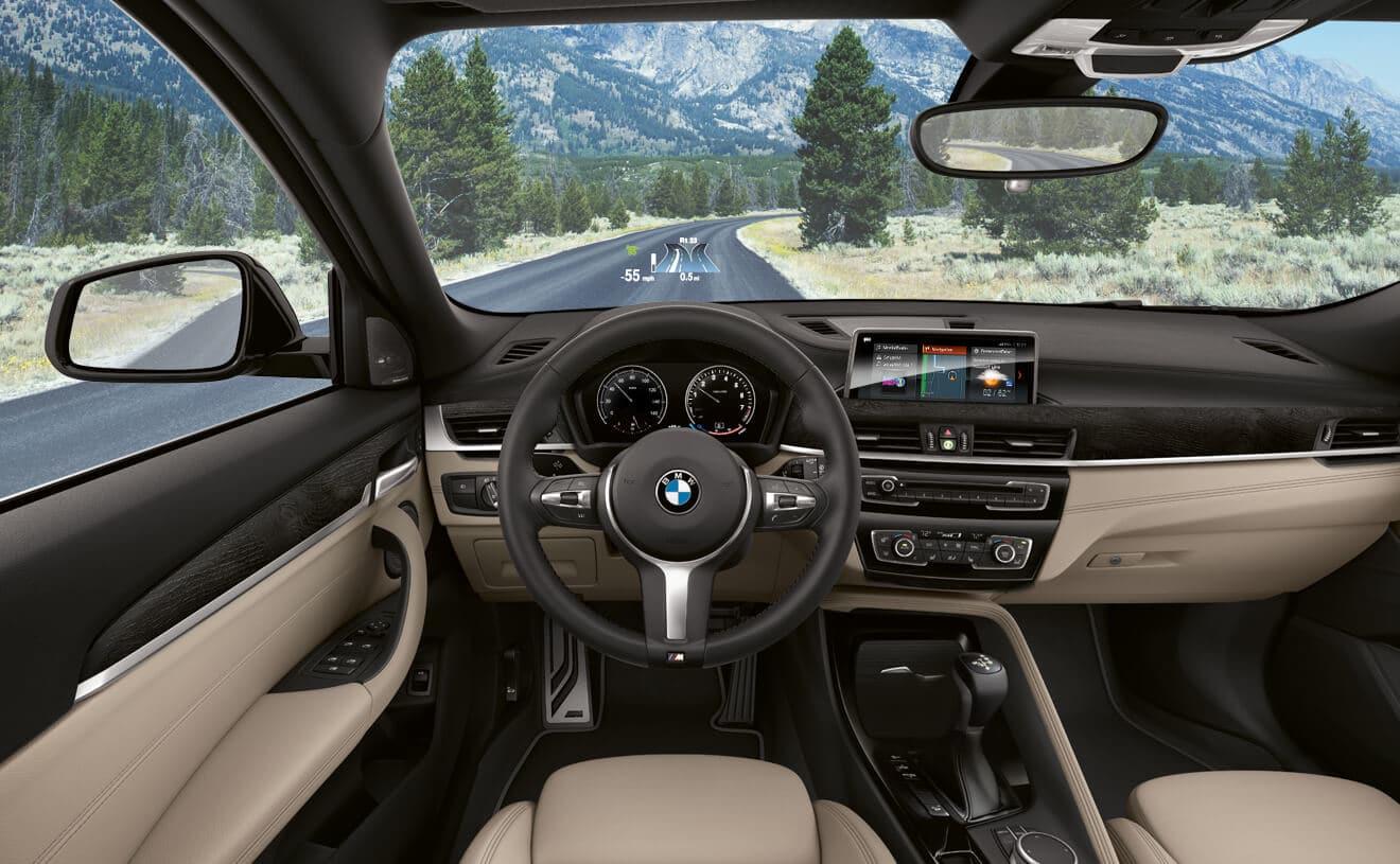 Interior of the 2018 BMW X2