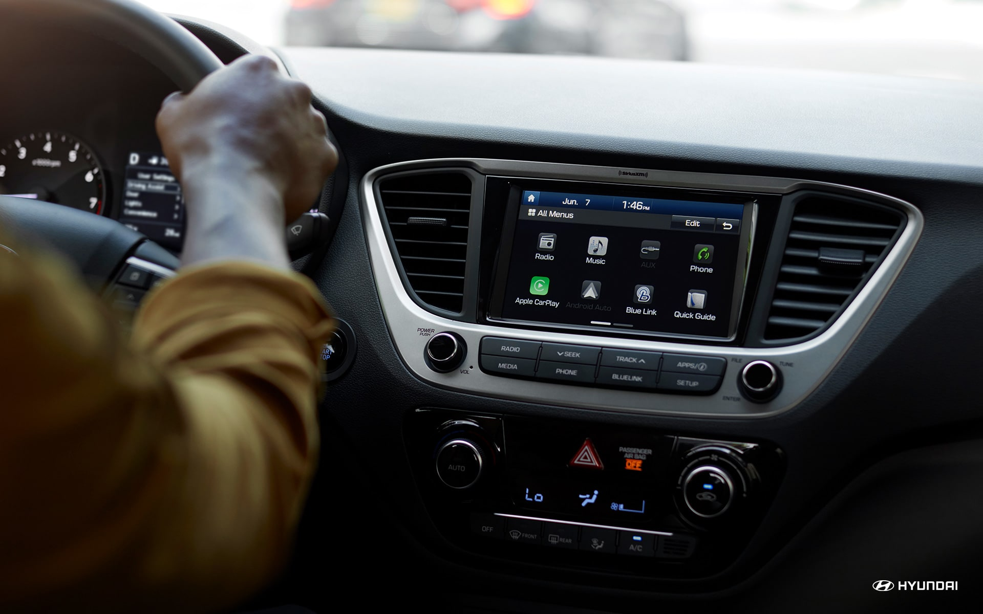 Infotainment Hub in the 2019 Accent
