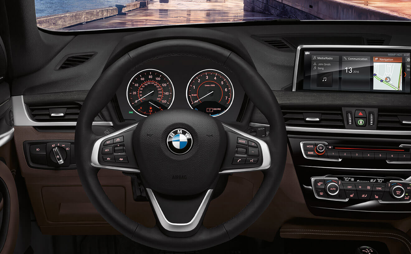 Interior of the 2018 BMW X1