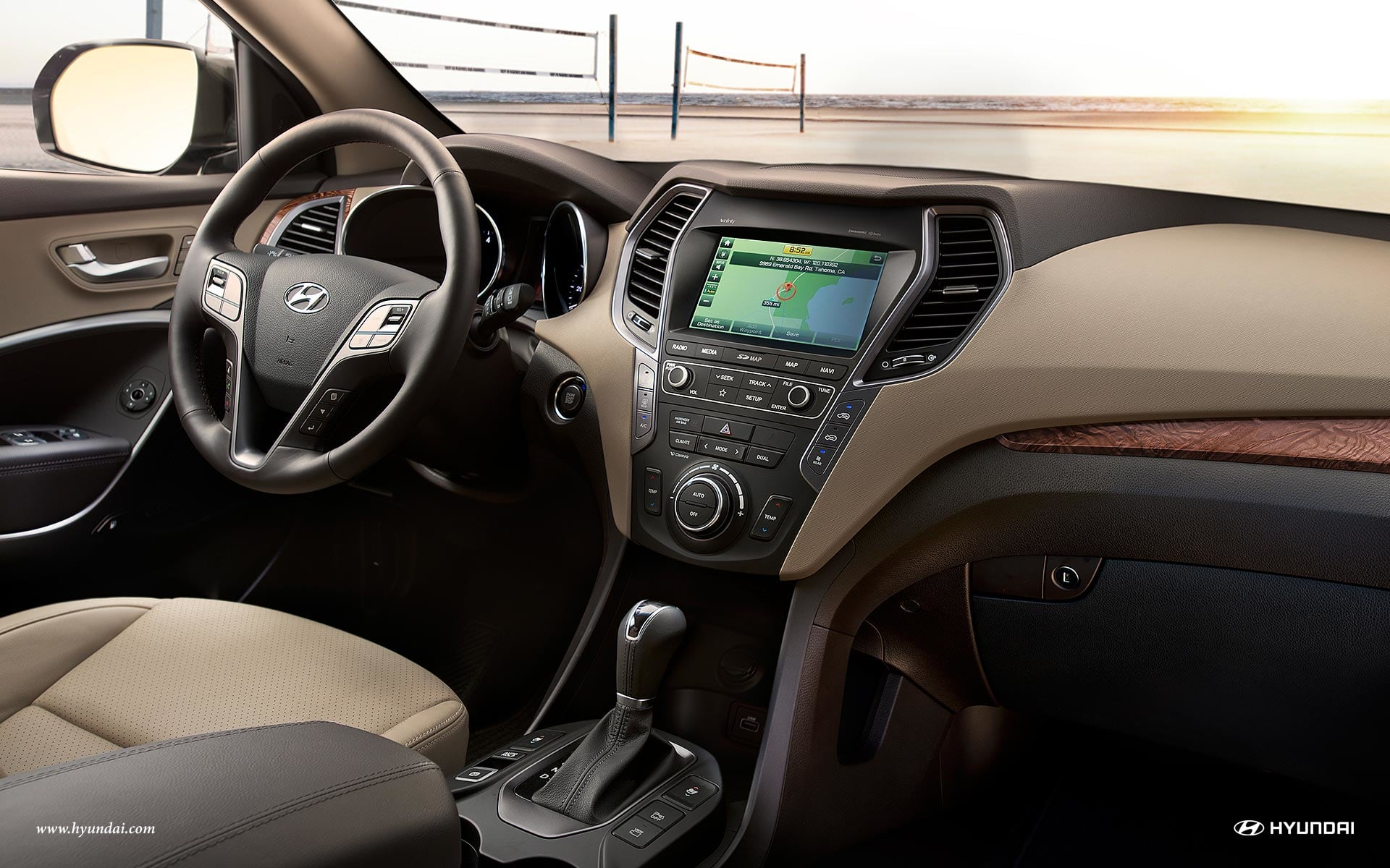 Interior of the 2019 Santa Fe XL