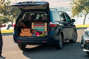 2019 Toyota Sienna cargo area