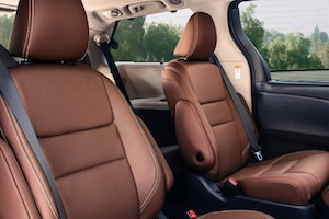 Front seats in the 2019 Toyota Sienna