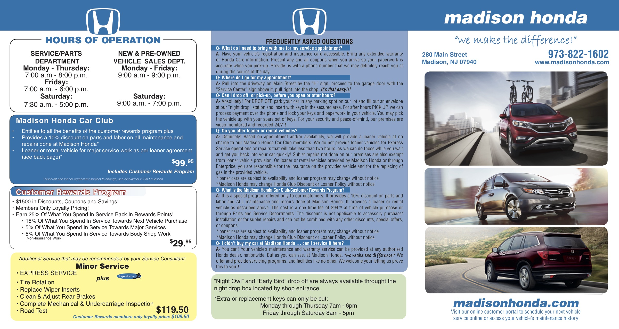 Do You Know Where Your Car Is Madisons >> Honda Service Auto Repair Department Madison Honda