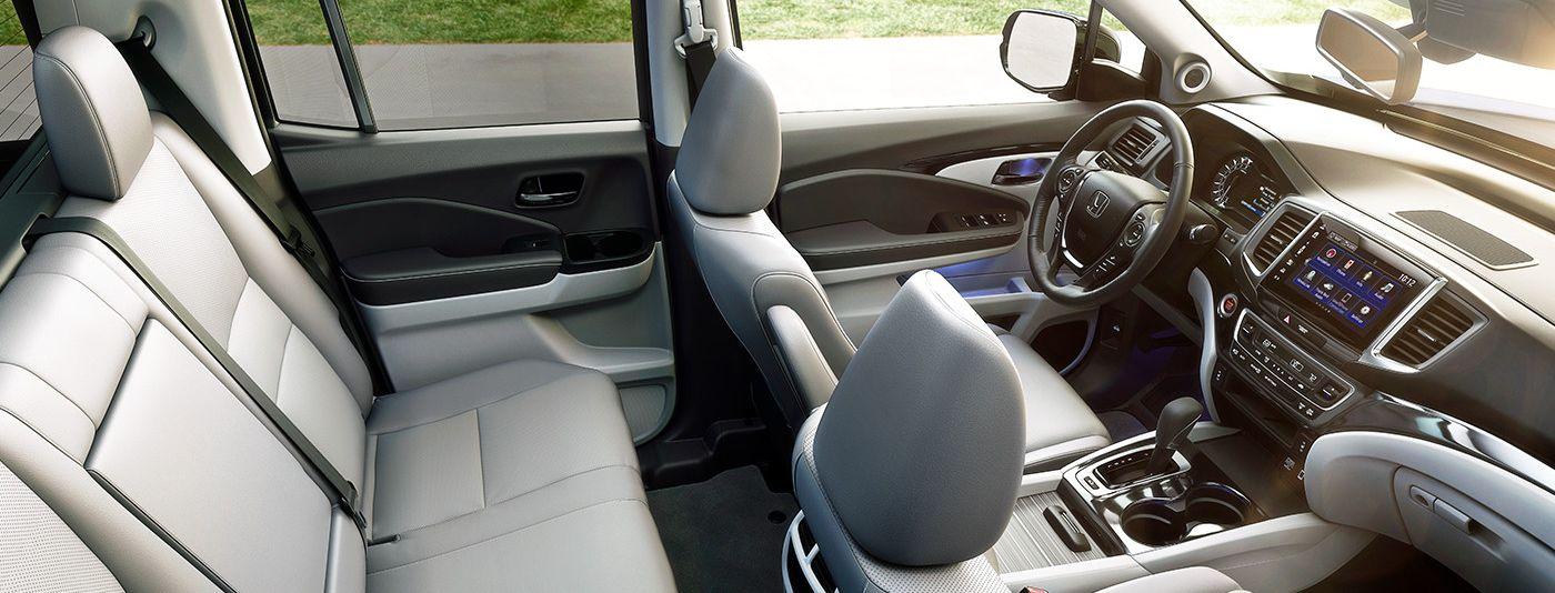 Lots of Room in the Ridgeline's Cab, Too!
