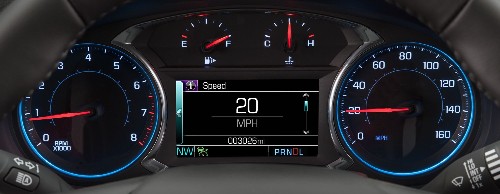 Sporty Design on the Malibu's Dash