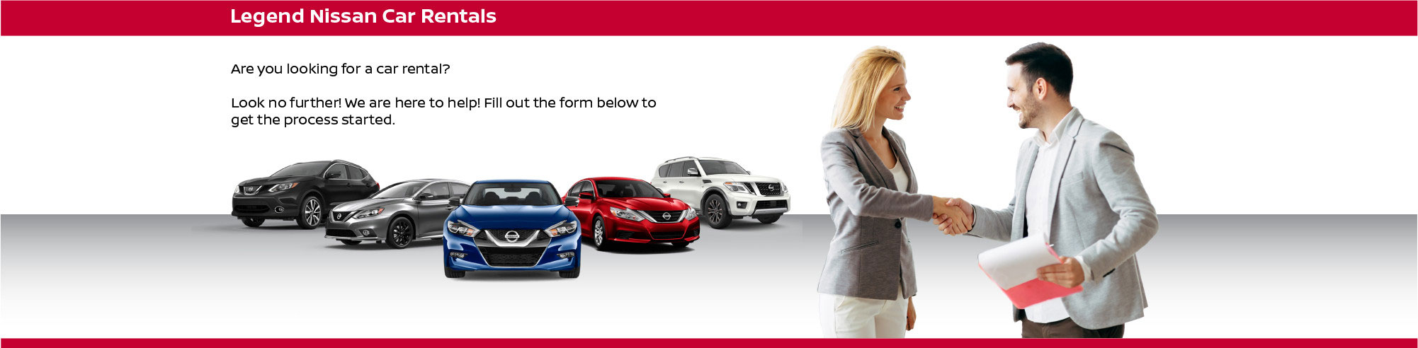 Legend Nissan Car Rental Banner