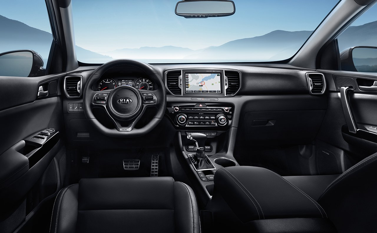 Interior of the 2019 Kia Sportage