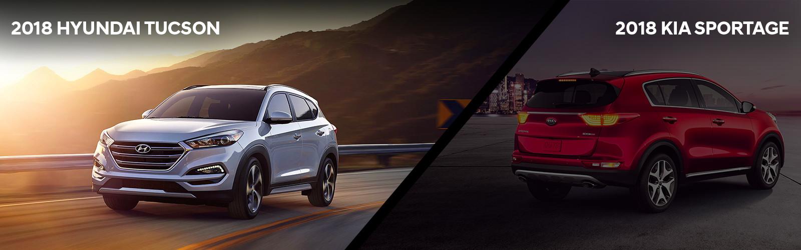 2018 Hyundai Tucson Se V 2018 Kia Sportage Lx