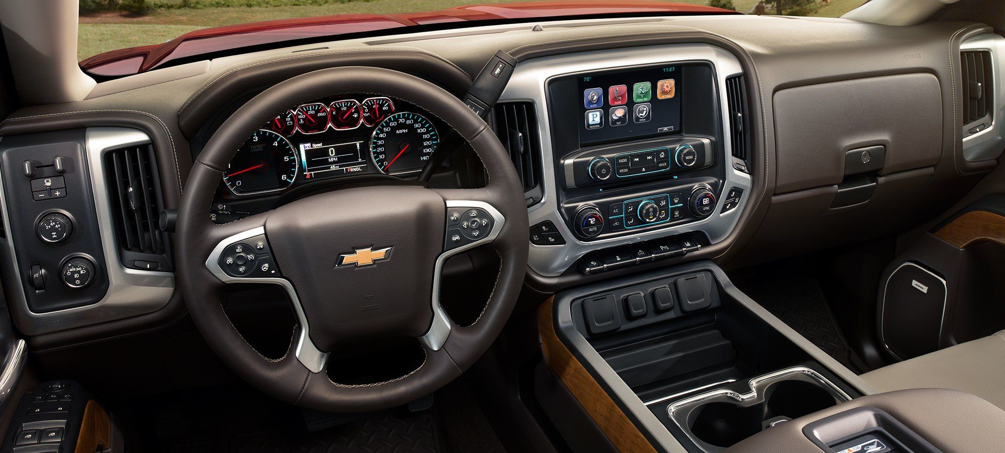 The Silverado 3500HD's Well-Appointed Dashboard