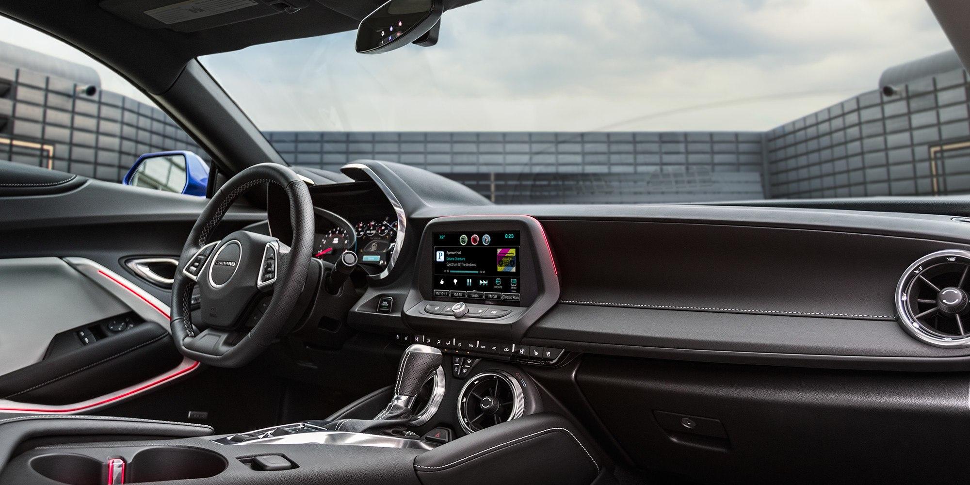 The Camaro's Sleek Dashboard