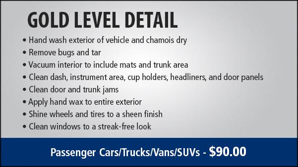 Detailing Services Price Honda