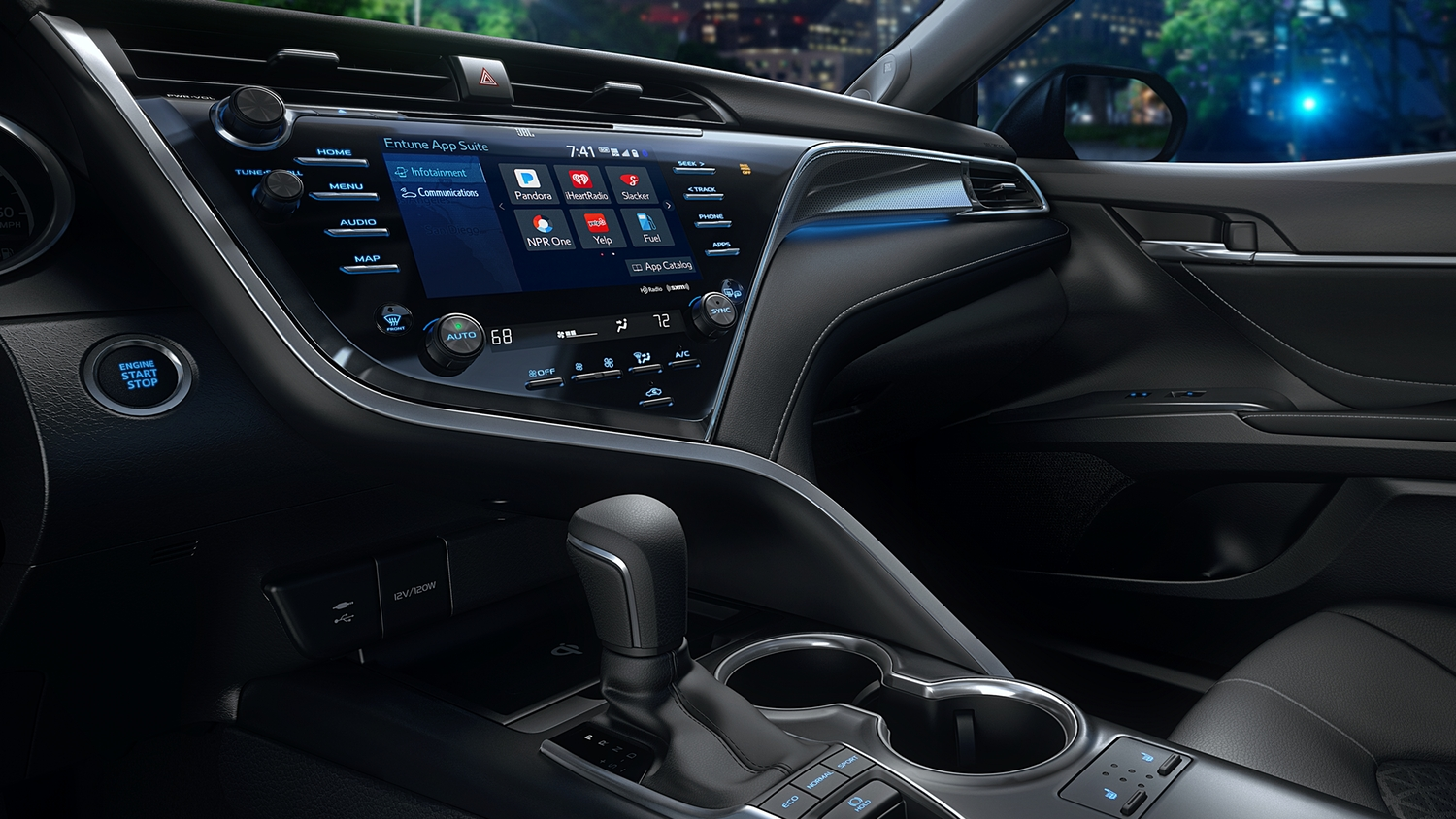 Cabin of the 2019 Camry