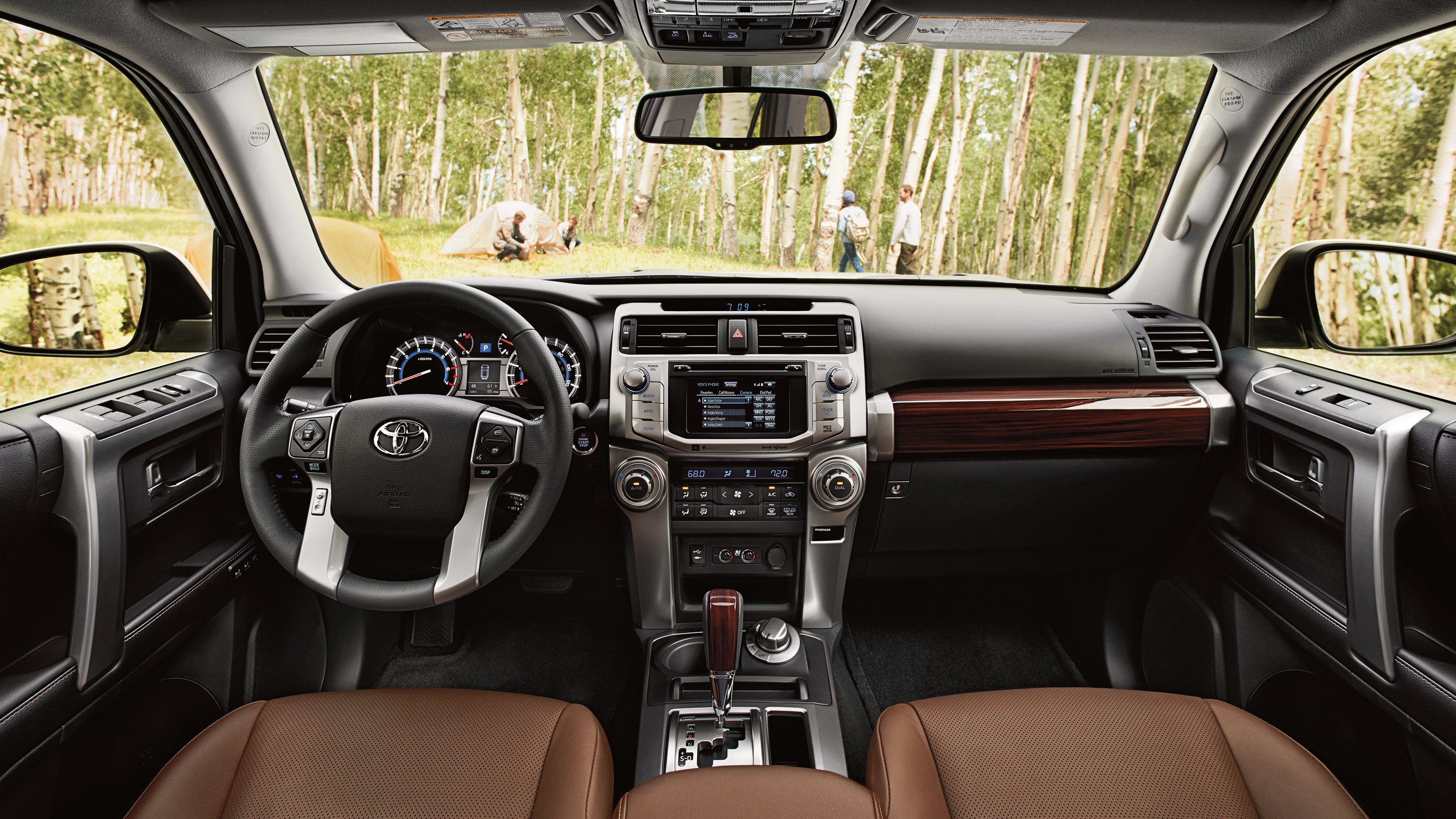 Interior of the 2019 Toyota 4Runner