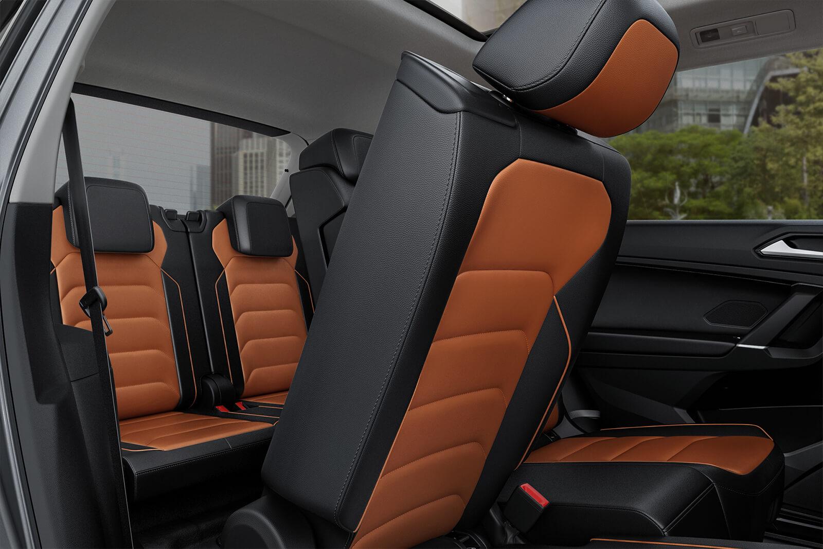 Tercera fila de asientos opcional en la Volkswagen Tiguan 2018