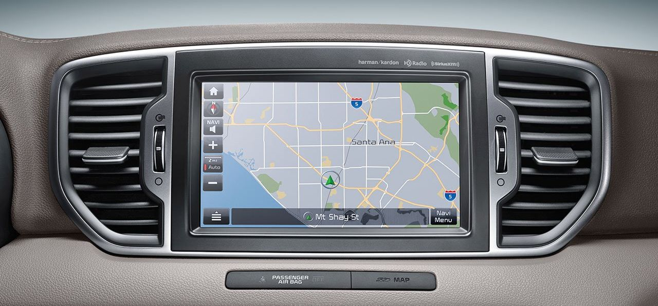 High-Tech Tools on the Sportage's Dashboard