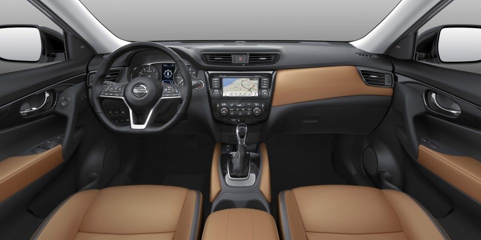 Interior of the 2018 Nissan Rogue