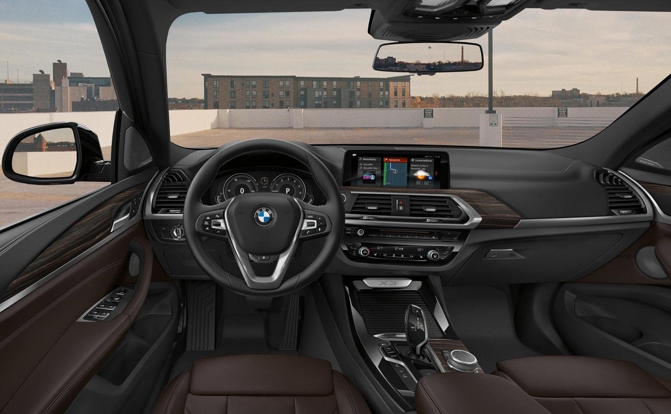 Interior of the 2019 BMW X3