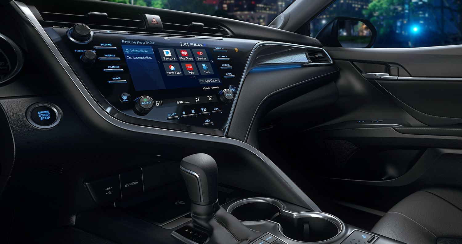 Advanced Cabin of the 2019 Camry