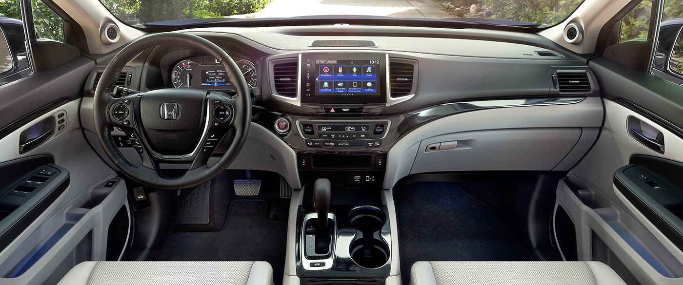 Interior of the 2019 Honda Ridgeline