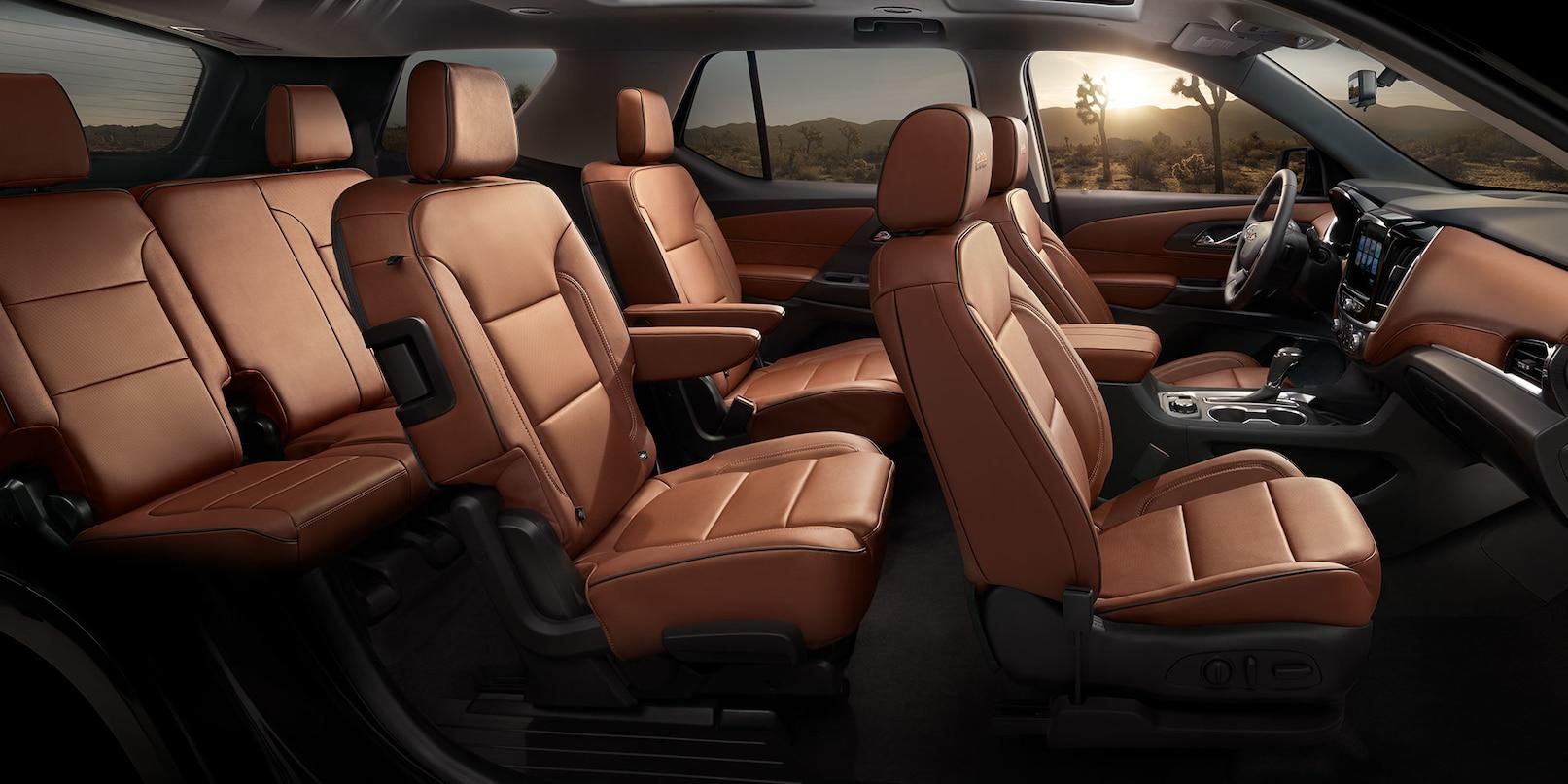Lujo y espacio sobra en el interior de la Chevrolet Traverse 2019