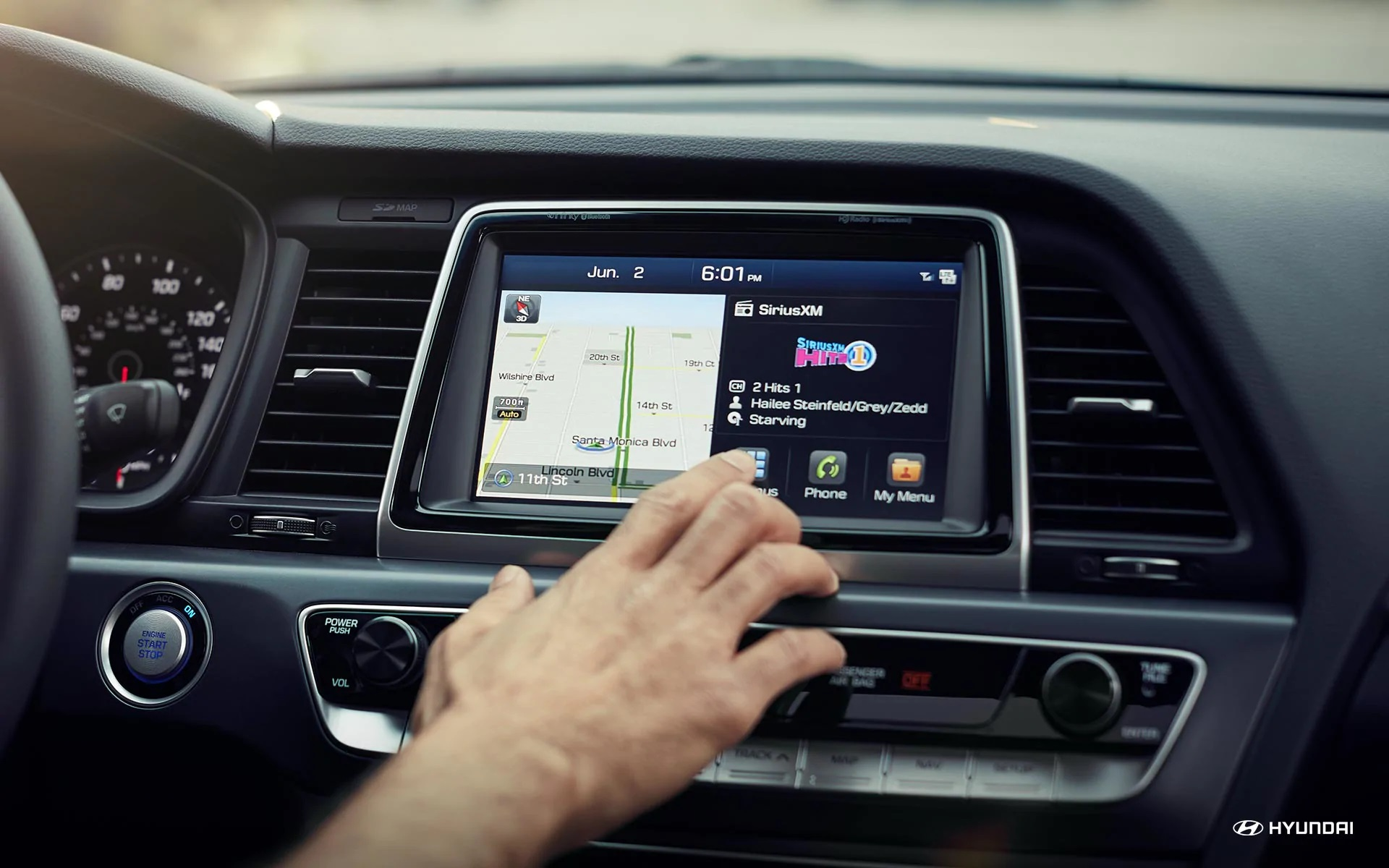 Enjoy the Sonata's Infotainment Center!