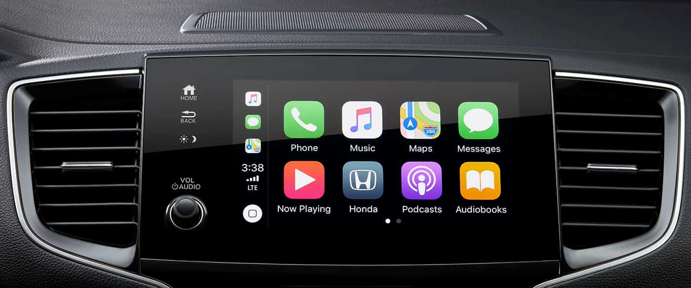 Conectividad Apple CarPlay disponible en el Honda Pilot 2019