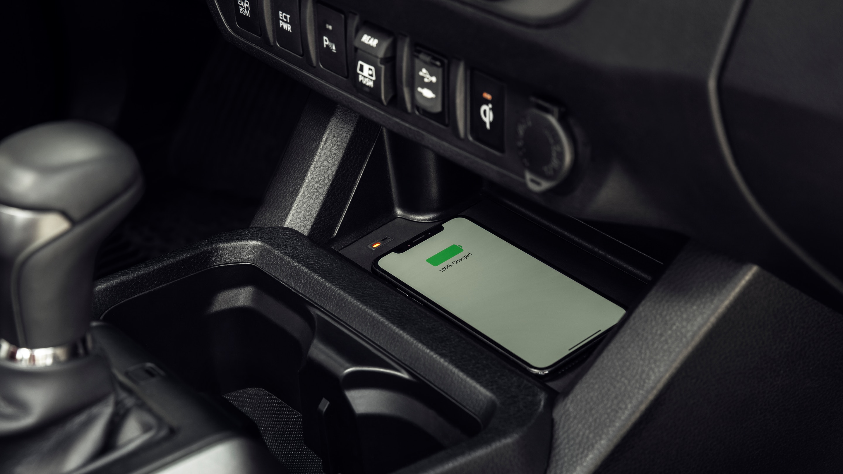 Enjoy Wirelessly Charging Your Device in the Tacoma!