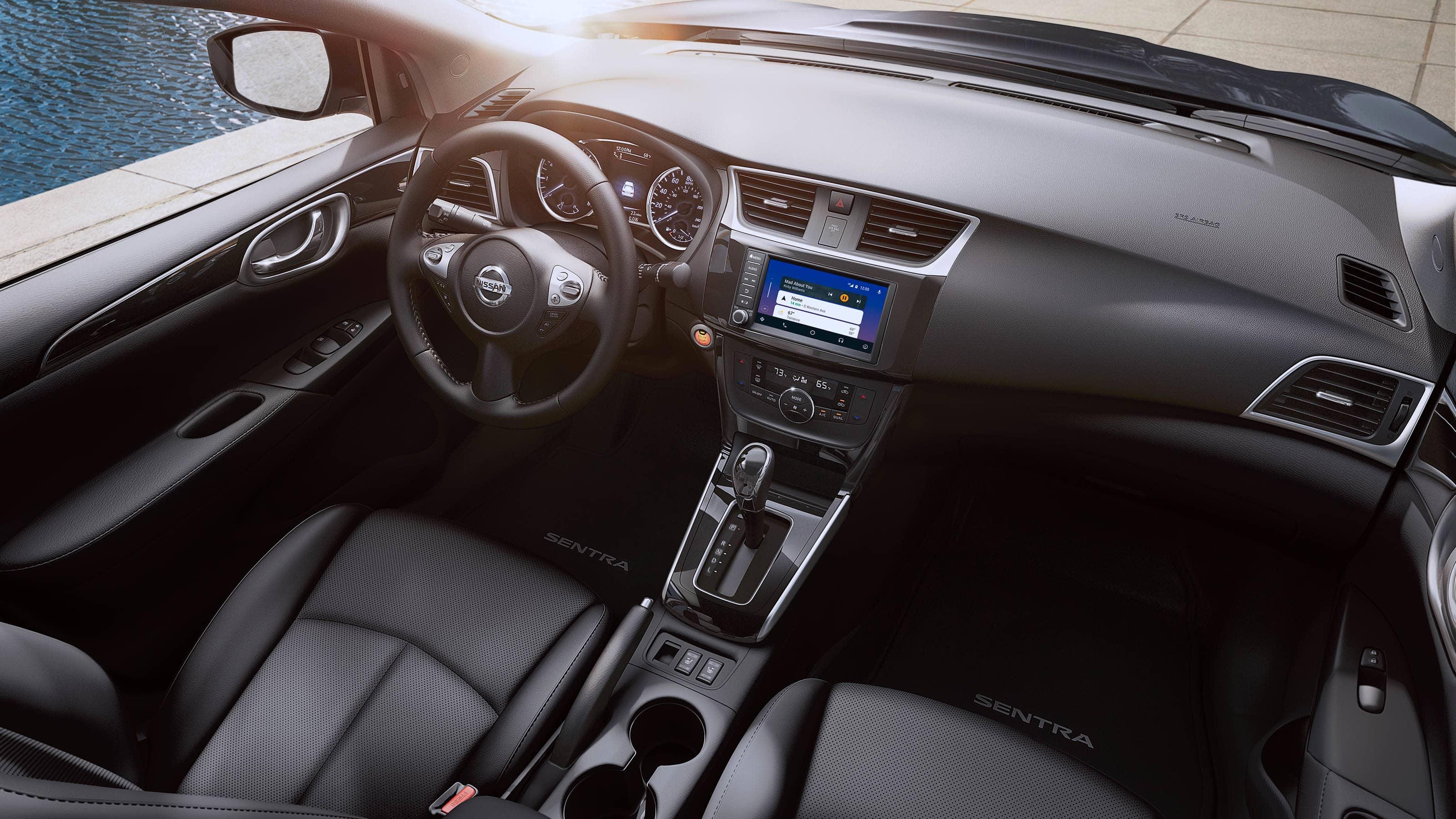 Interior of the 2019 Nissan Sentra