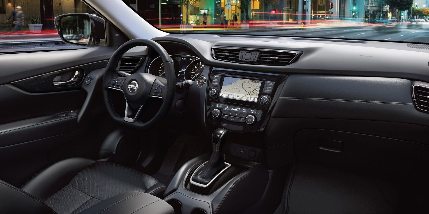 Interior of the 2019 Nissan Rogue