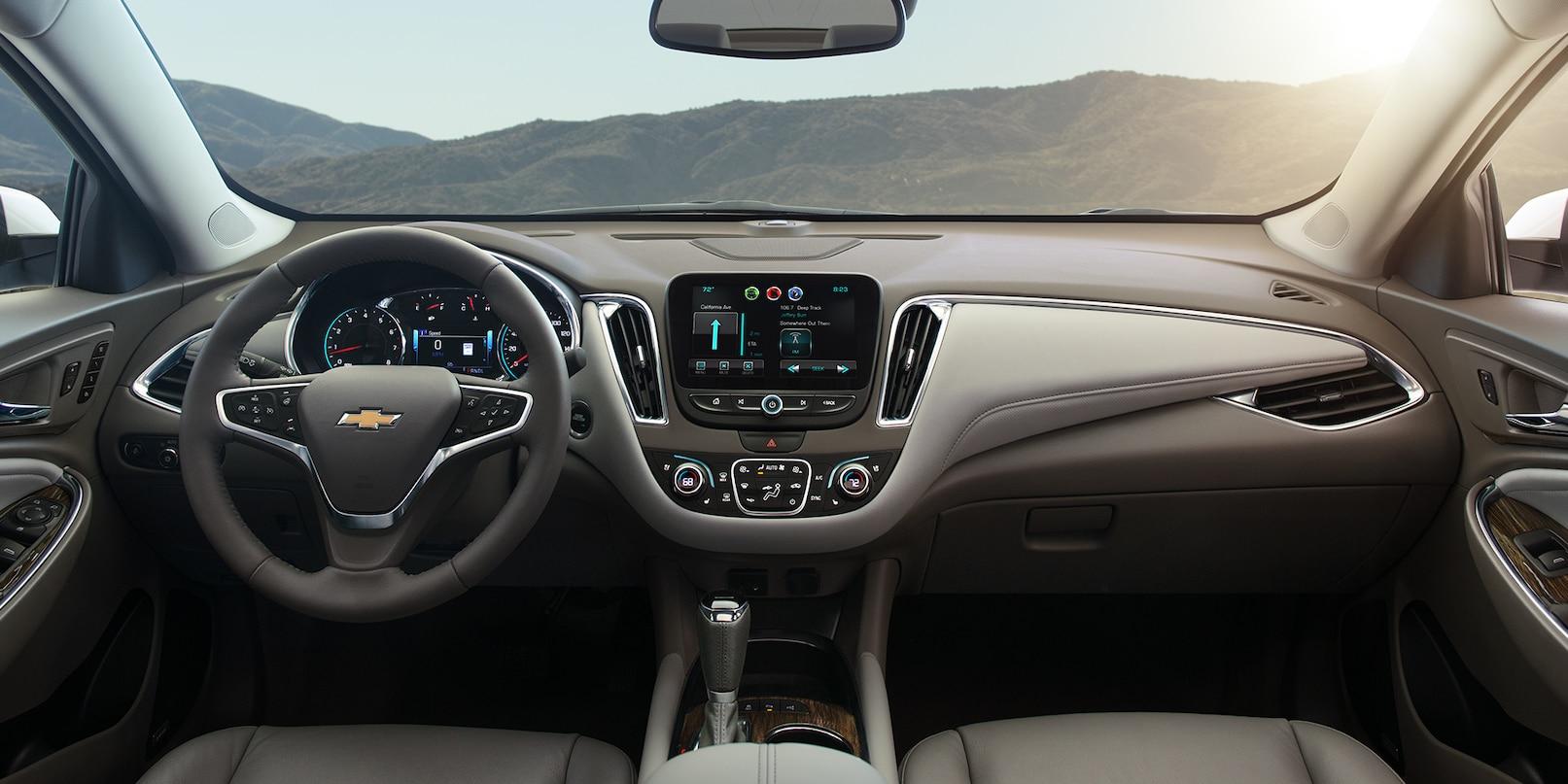 Interior of the 2018 Chevrolet Malibu