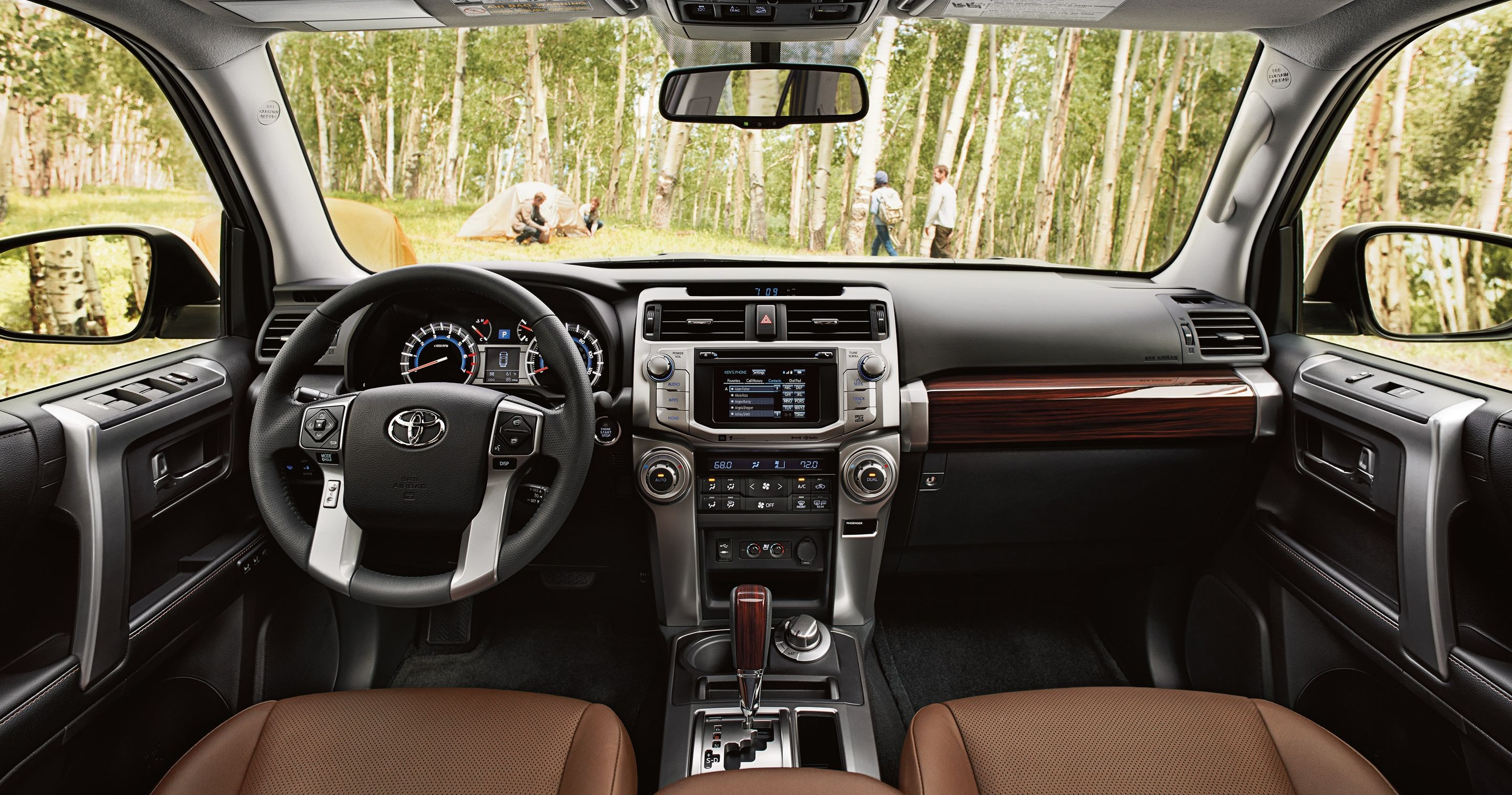 Cabin of the Toyota 4Runner