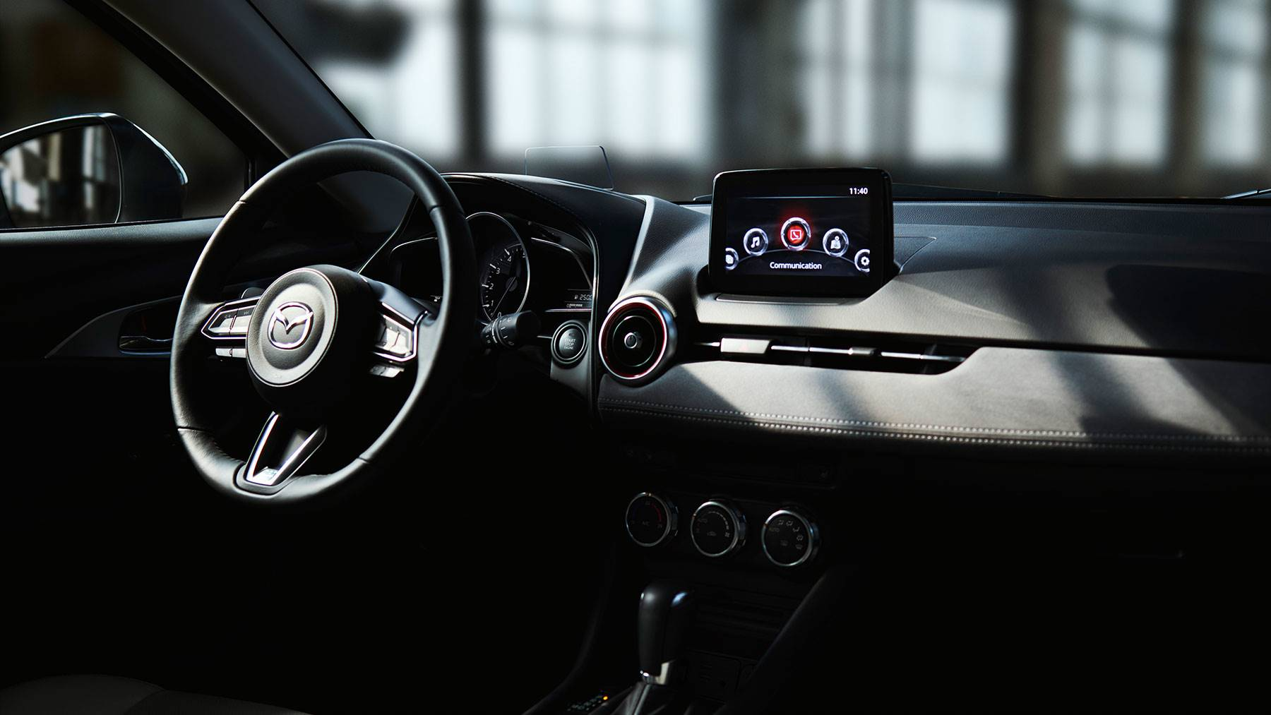 Interior of the 2019 Mazda CX-3