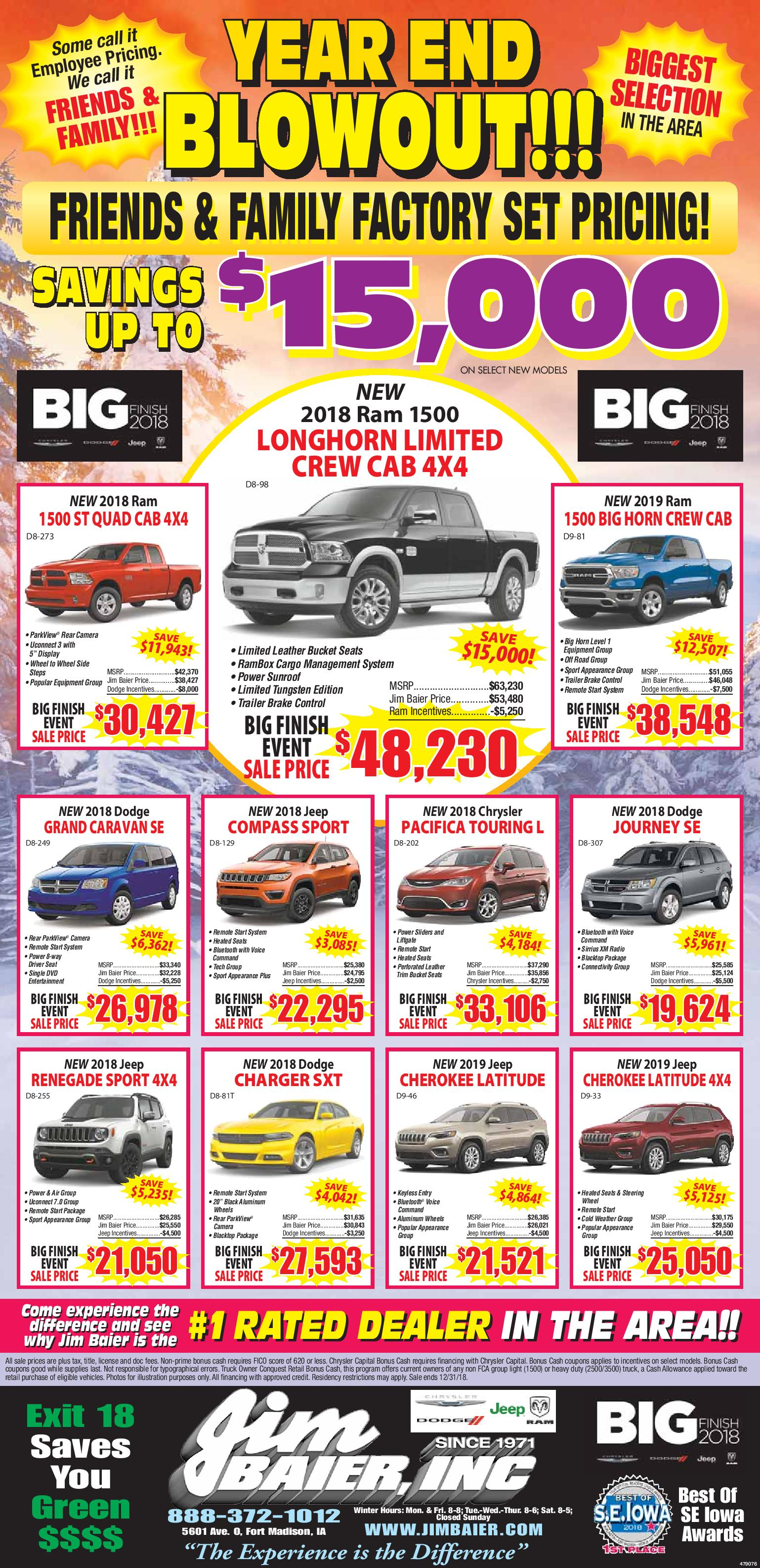 Chrysler Dodge Ford Jeep Lincoln And Ram Dealer Fort Madison Ia