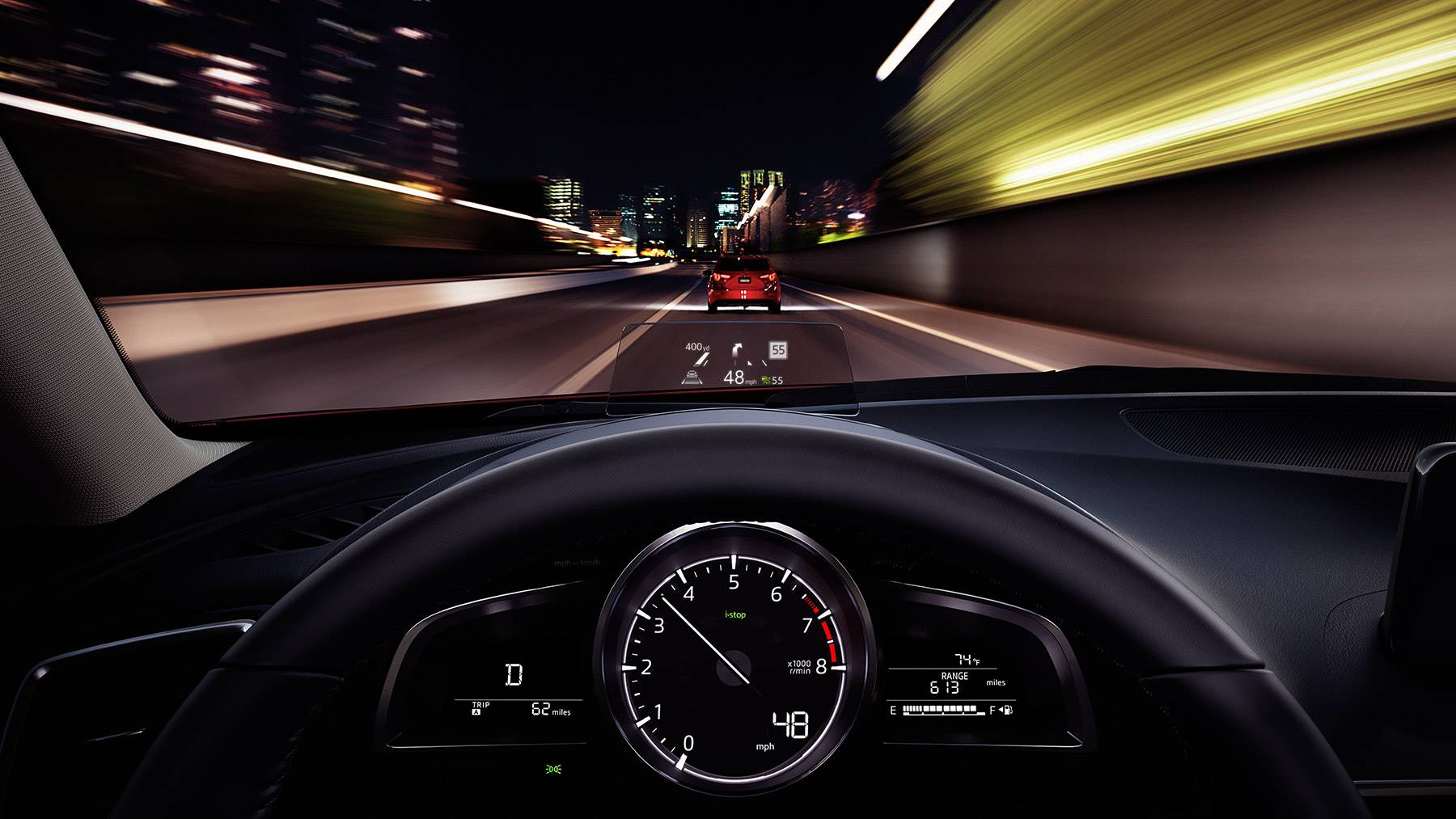 View Important Vehicle Information As You're Cruising in the Mazda3!