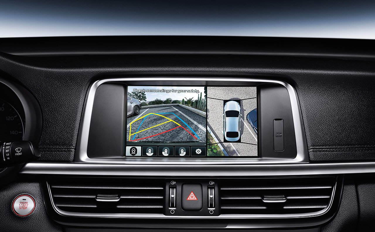 Surround View Monitor in the 2019 Optima