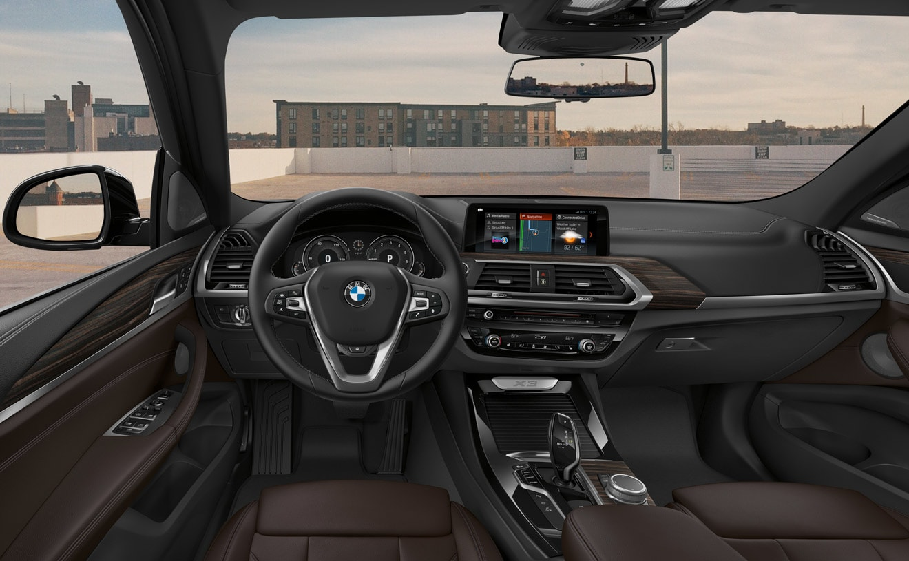 Interior of the 2019 BMW X3